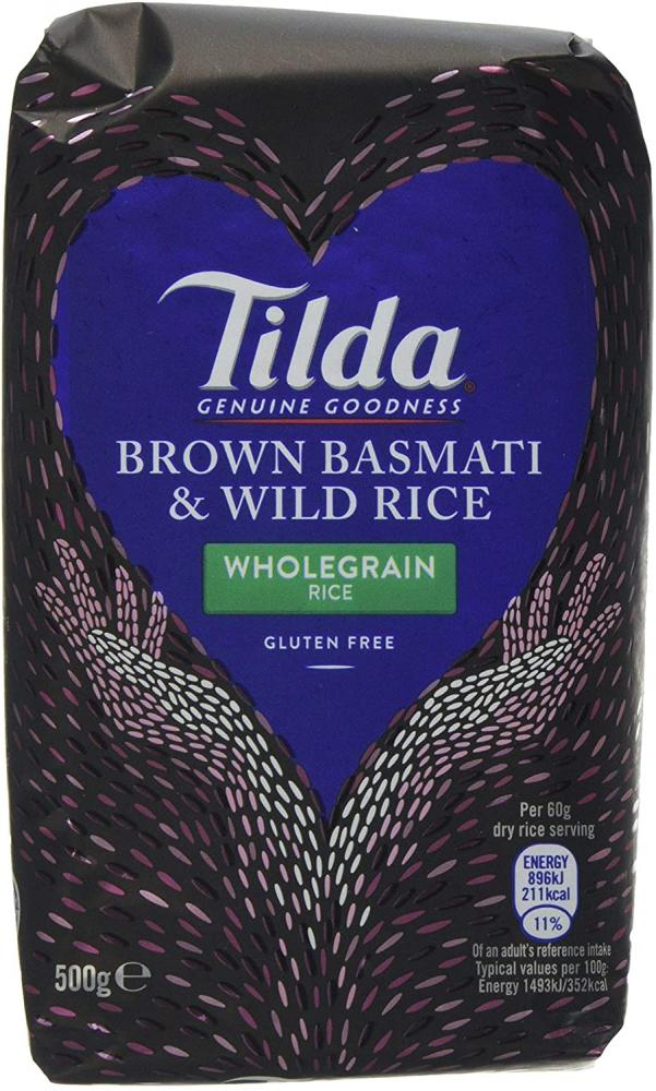 Tilda Brown Basmati and Wild Rice 500g