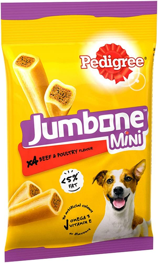 Pedigree Jumbone Small Dog Treats with Beef and Poultry 160g