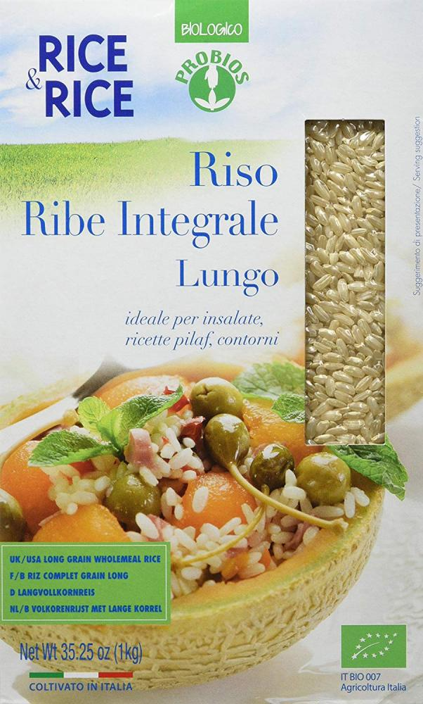 Probios Rice And Rice Ribe Long Whole Grain Rice 1kg