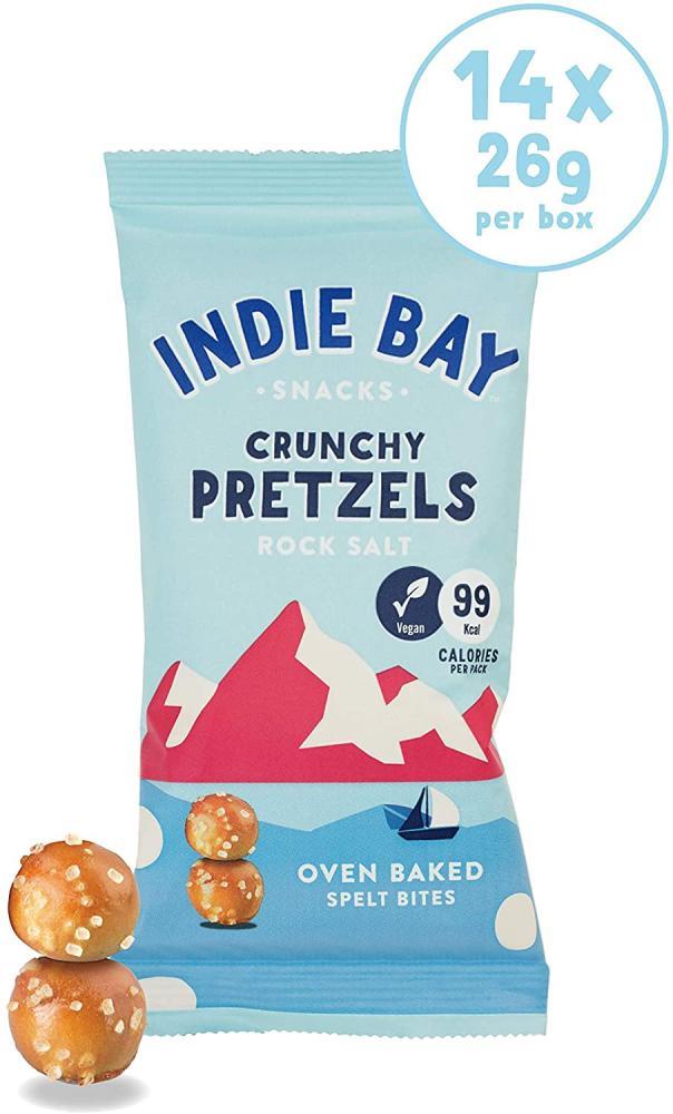 SALE  Indie Bay Crunchy Pretzels Rock Salt 26g
