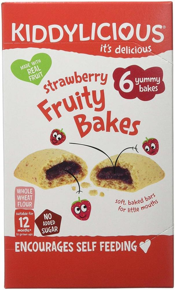 Kiddylicious Strawberry Bakes Fruity 6 x 22g