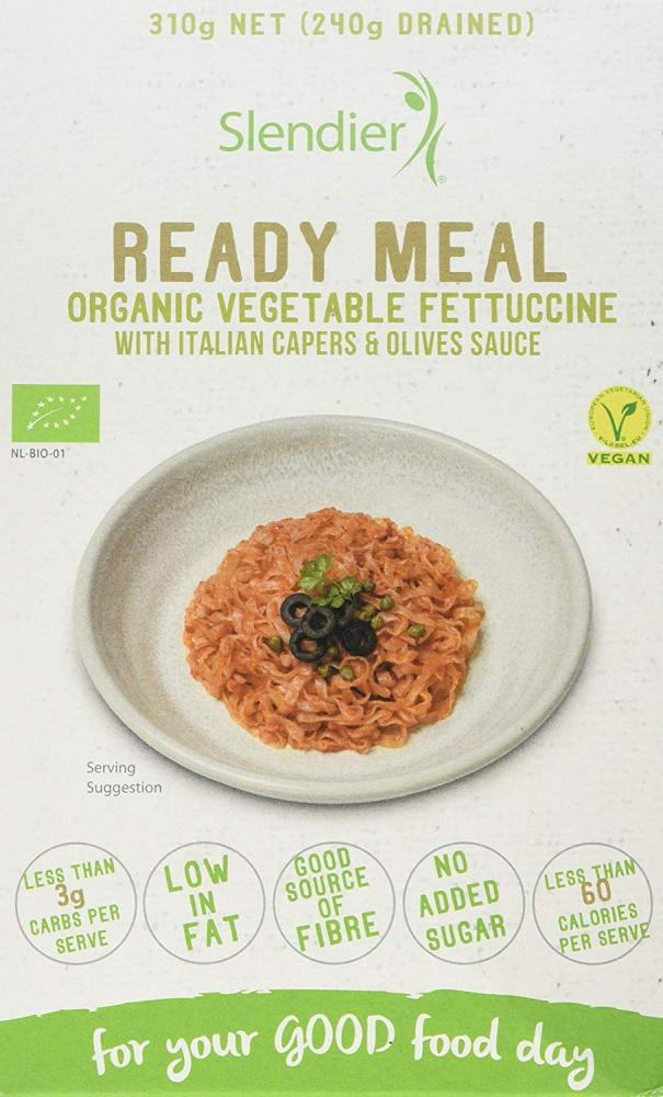Slendier Ready Meal Organic Vegetable With Capers And Olives Sauce 310g