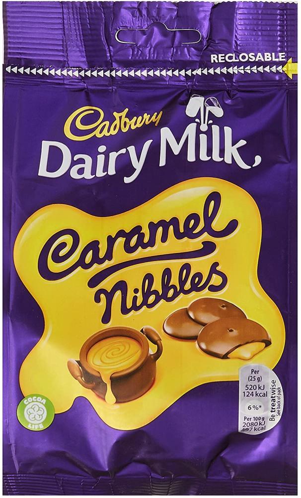 Cadbury Dairy Milk Caramel Nibbles Chocolate Bag 120g