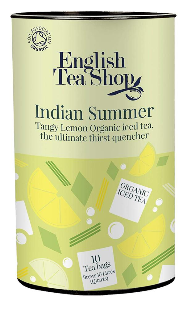 English Tea Shop Organic Indian Summer Iced Tea Tangy Lemon 10 Tea Bags