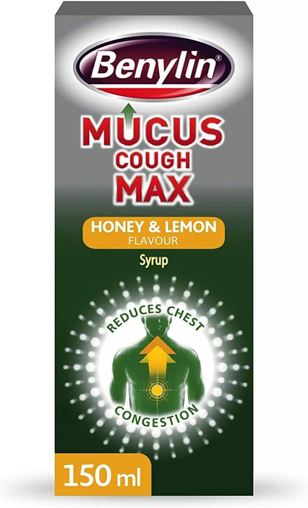 Benylin Mucus Cough Max Honey and Lemon Flavour 150ml