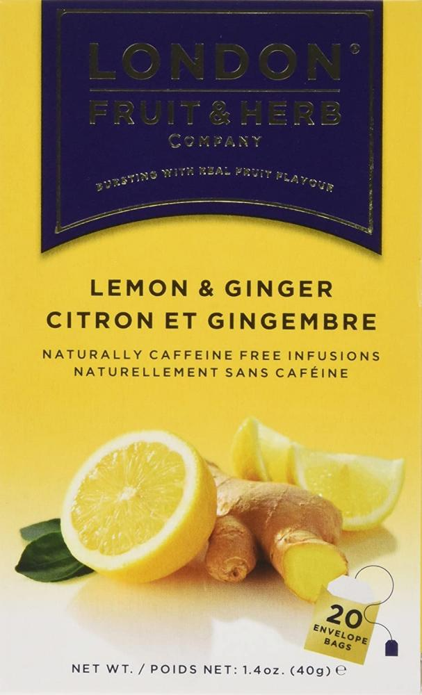 London Fruit and Herb Company 20 Ginger and Lemon Teabags 40 g