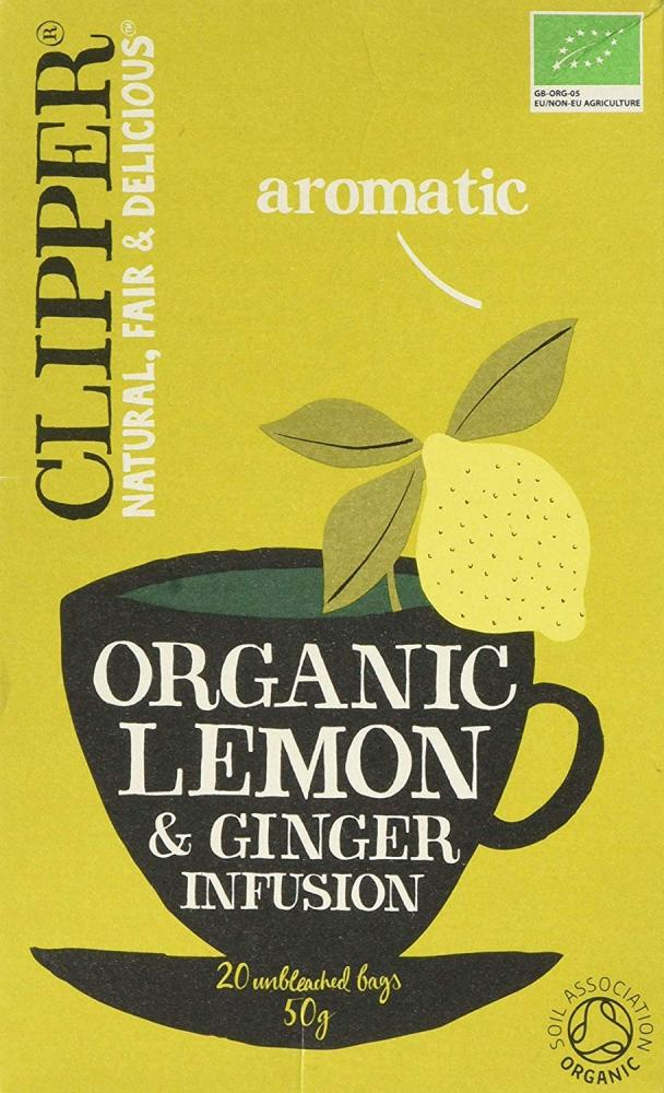 Clipper Organic Lemon and Ginger Tea 20 Bags