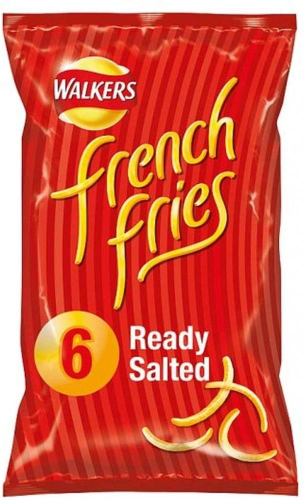 Walkers French Fries Ready Salted Multipack Snacks 6 x 18 g