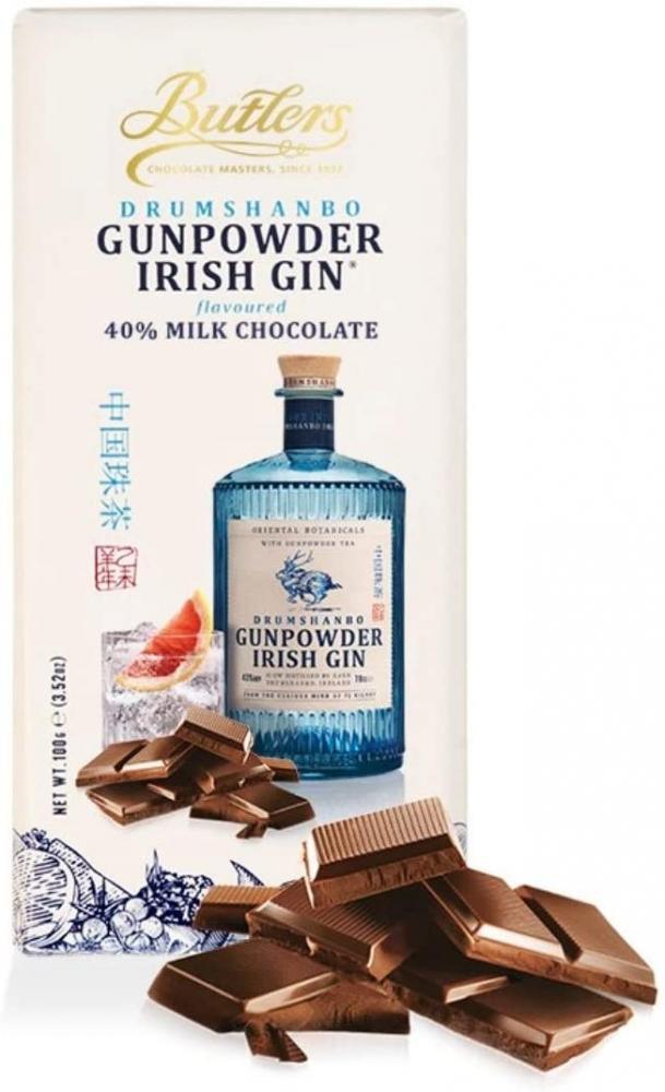 Butlers Gunpowder Irish Gin Milk Chocolate Bar 100g