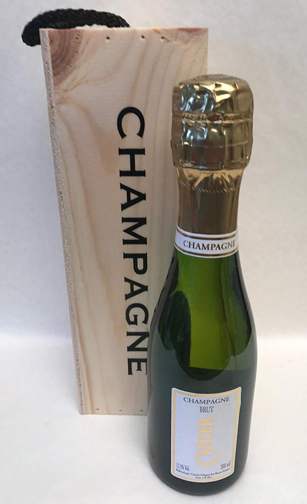 Cattier Brut Champagne in a Wooden Box 200ml