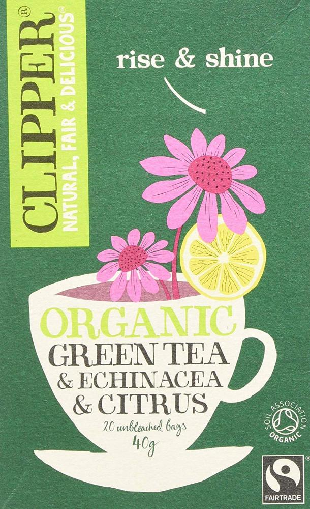 Clipper Green Tea with Echinacea and Citrus 20 Teabags