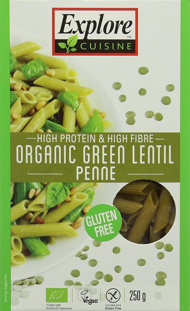 Explore Cuisine Organic Green Lentil Penne 250 g