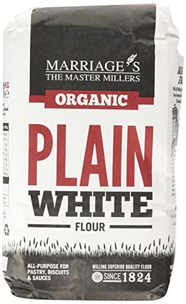 Marriages Organic Plain White Flour 1kg