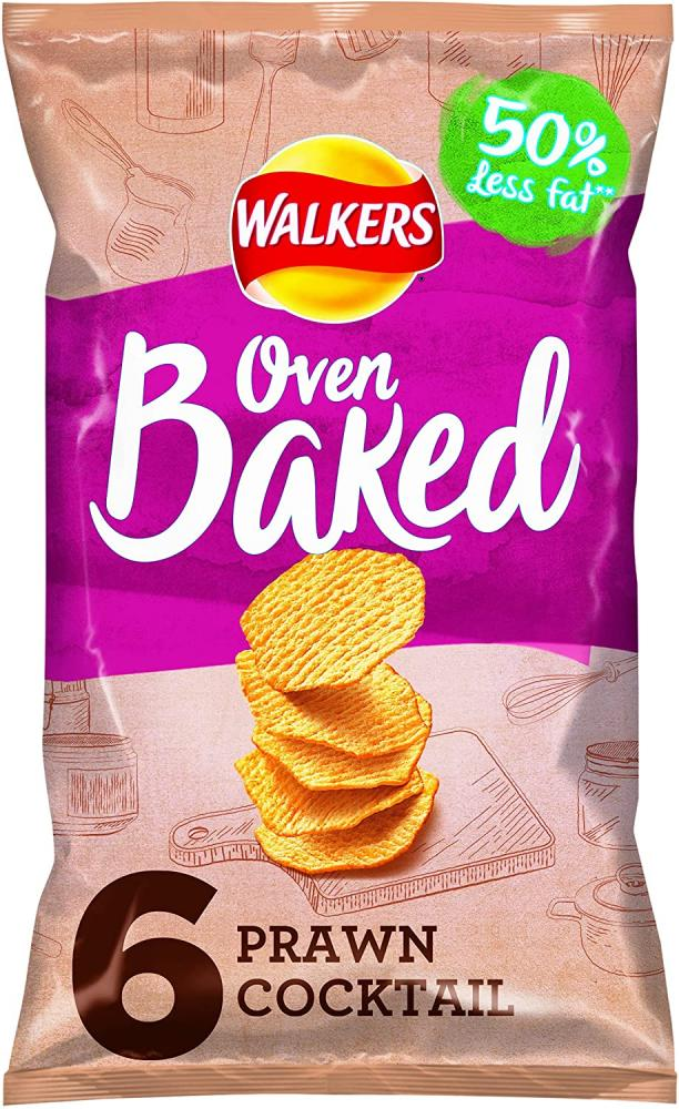 Walkers Oven Baked Prawn Cocktail 6 x 25g