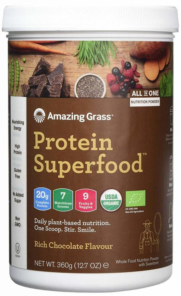 Amazing Grass Protein Superfood Rich Chocolate 12 Serving Tub 360 g EXP. 12012019