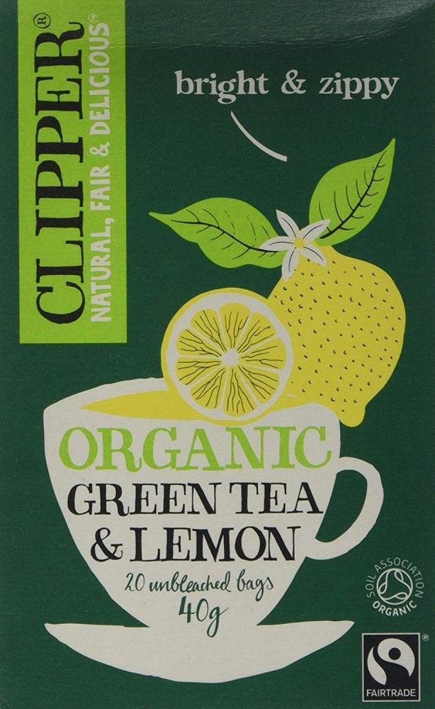 Clipper Organic Fairtrade Green with Lemon 40g