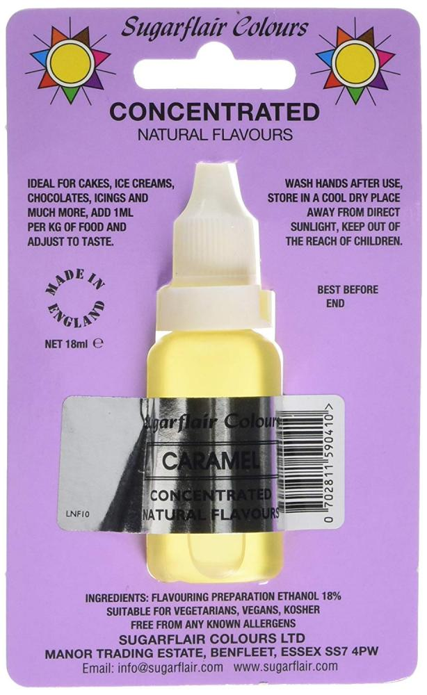 Sugarflair Colours Caramel Concentrated Natural Flavour 18ml