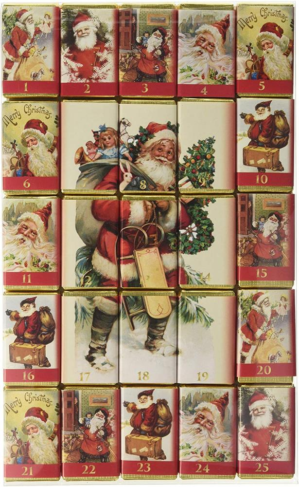 House Of Dorchester Traditional Advent Calender Milk Chocolate Slim 250 g