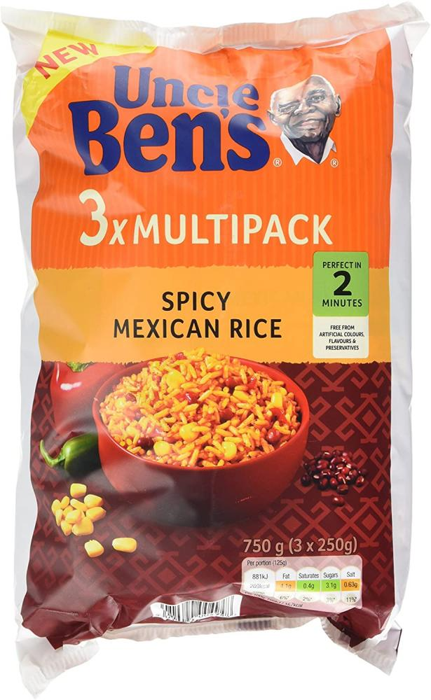 Uncle Bens Spicy Mexican Rice 3 x 250g