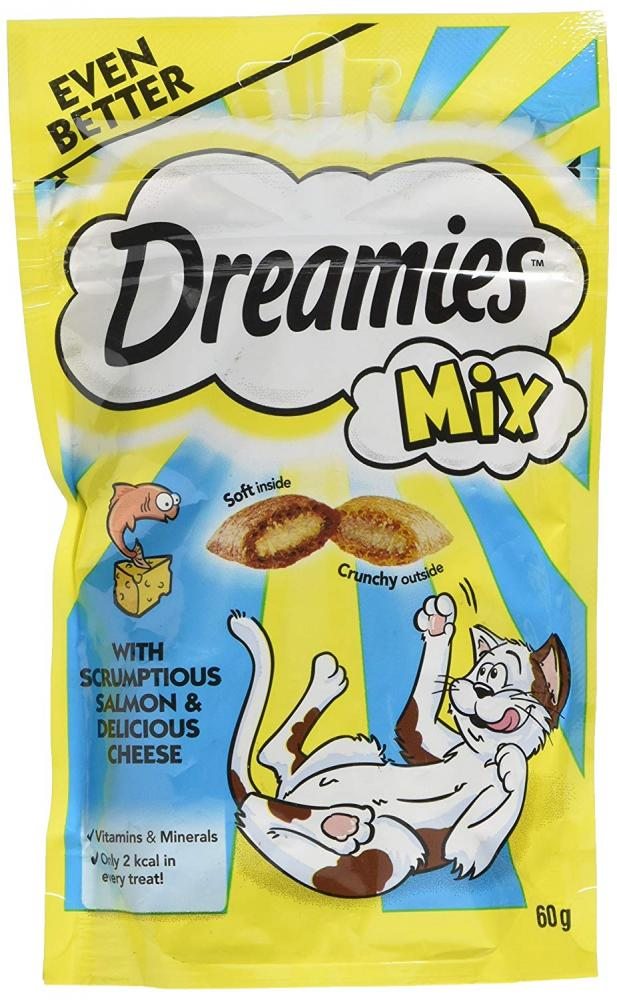 Dreamies Mix Cat Treat with Salmon and Cheese 60g