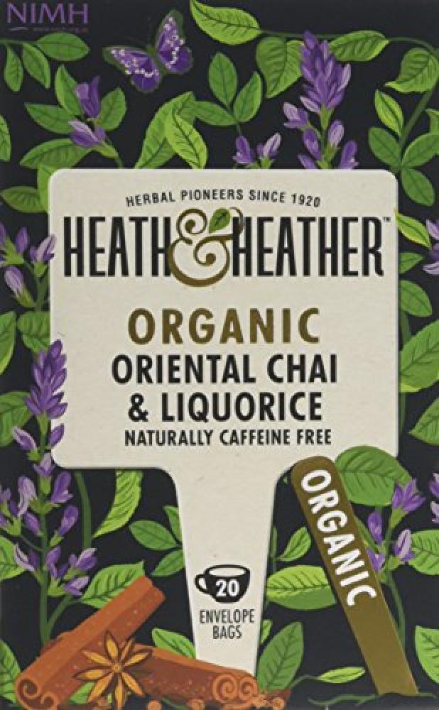 Heath and Heather Organic Oriental Chai and Liquorice 20 Teabags 40g