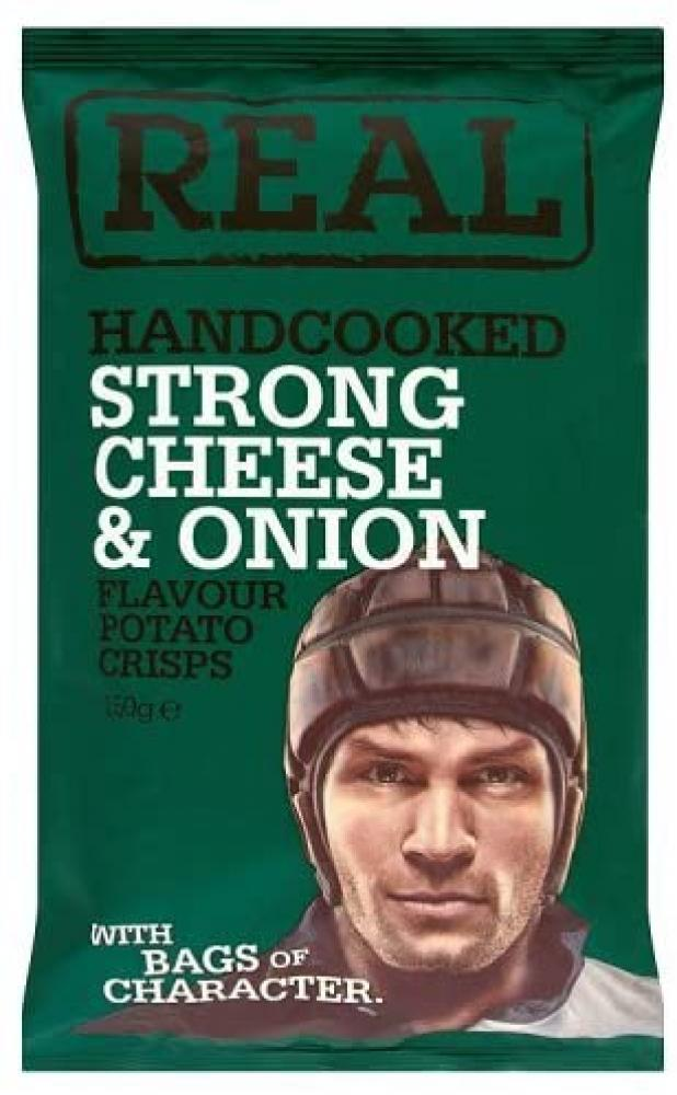 Real Handcooked Strong Cheese and Onion 150g