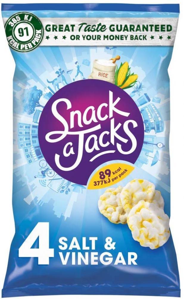 Snack a Jacks Salt and Vinegar Rice Cakes 4x22g