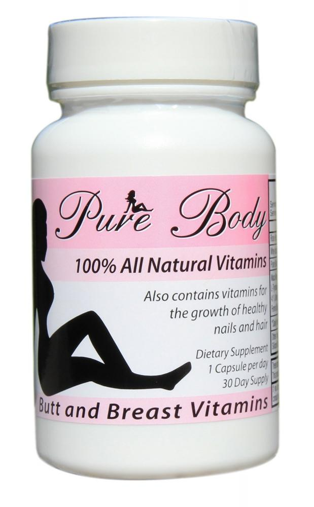 Pure Body Butt and Breast Growth Vitamins 30 Capsules | Approved Food