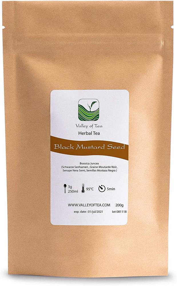 Valley of Tea Black Mustard Seeds Whole Organic 200g
