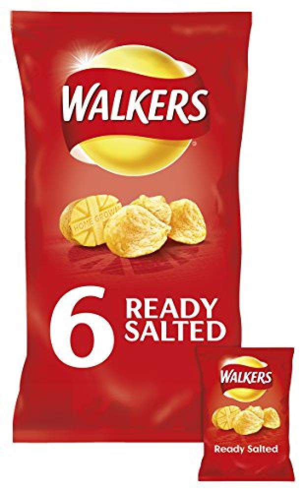 Walkers Ready Salted 6x 25g