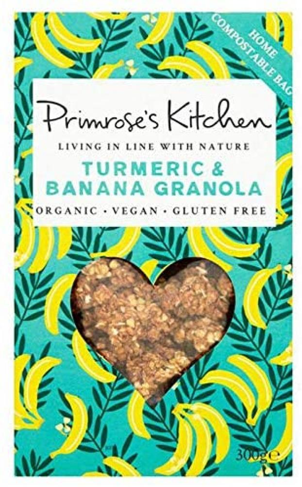 Primroses Kitchen Organic Turmeric and Banana Granola 300g