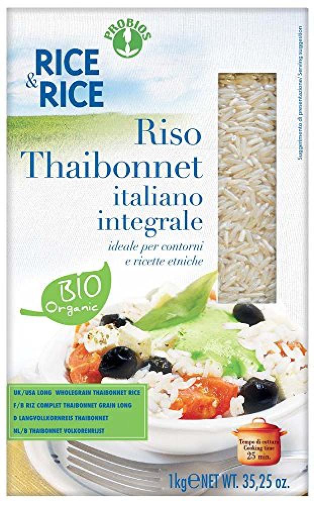 Probios Organic Long Wholegrain Thaibonnet Rice 1Kg