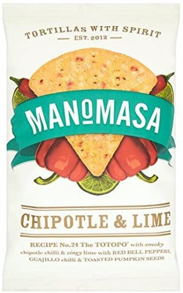 Manomasa Chipotle and Lime Tortilla Chips 160g