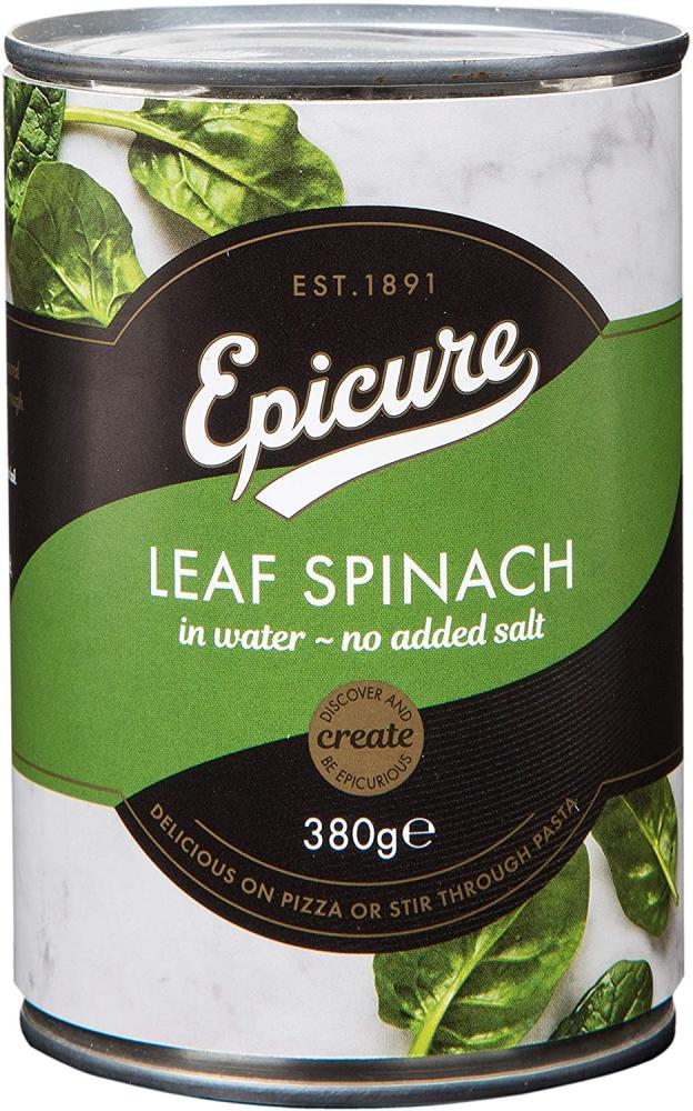 Epicure Leaf Spinach in Water 380 g