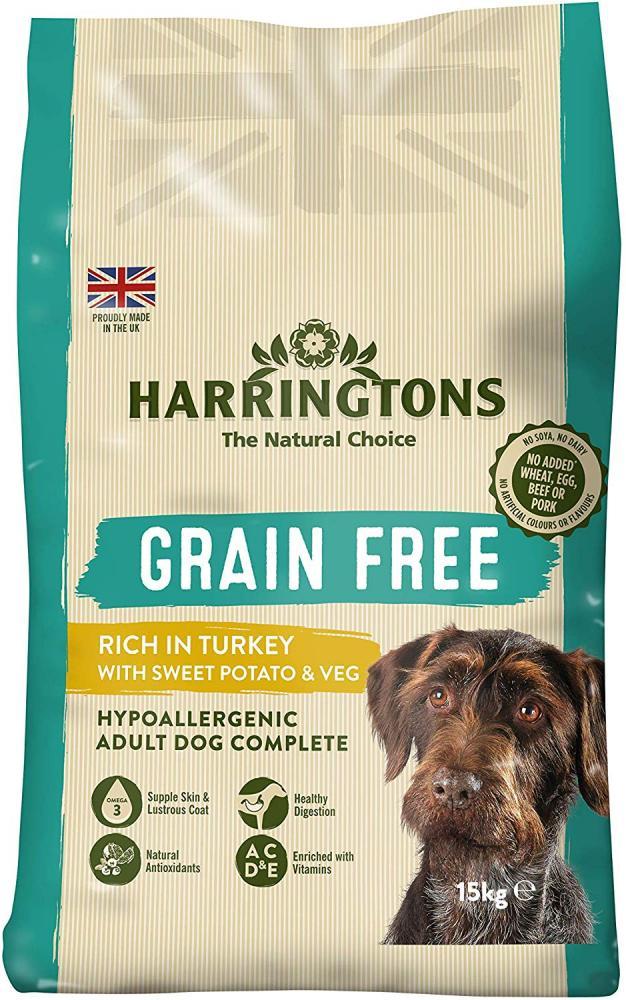 Harringtons Grain Free Hypoallergenic Turkey and Sweet Potato 15kg
