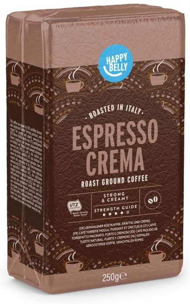 Happy Belly Ground Coffee Espresso Crema 250 g