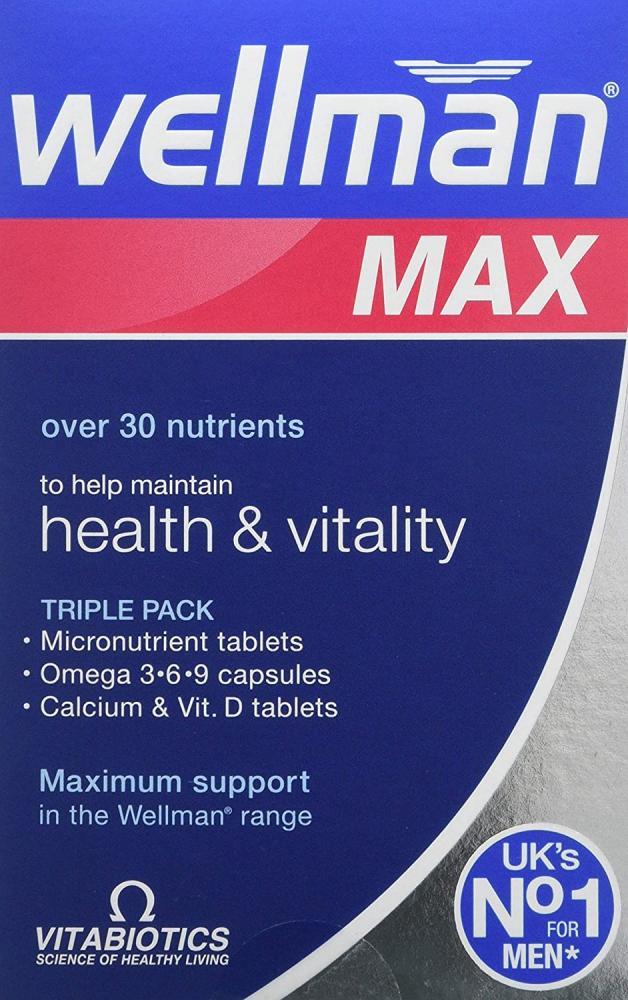 Vitabiotics Wellman Max - 84 TabletsCapsules