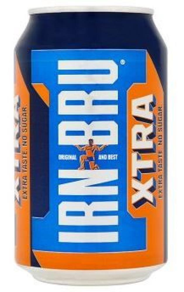 Irn Bru Xtra Taste No Sugar Soft Drink Can 330ml