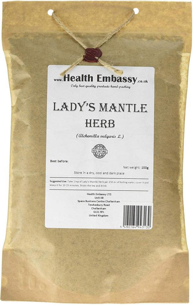 Health Embassy Ladys Mantle Herb Alchemilla Vulgaris L 50g