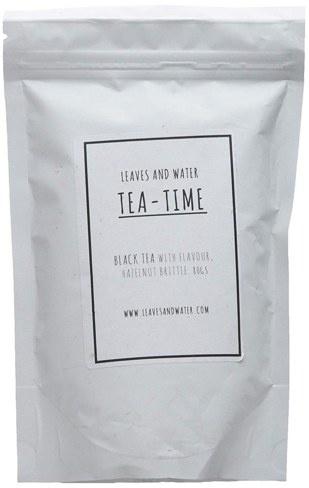 Leaves And Water Tea Time Black Tea with Flavour Hazelnut Brittle 80g