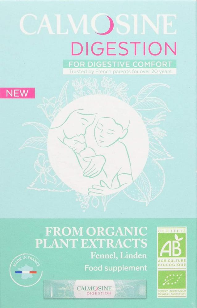 Calmosine Digestion Formula Natural Colic Relief for Babies 12 Sachets