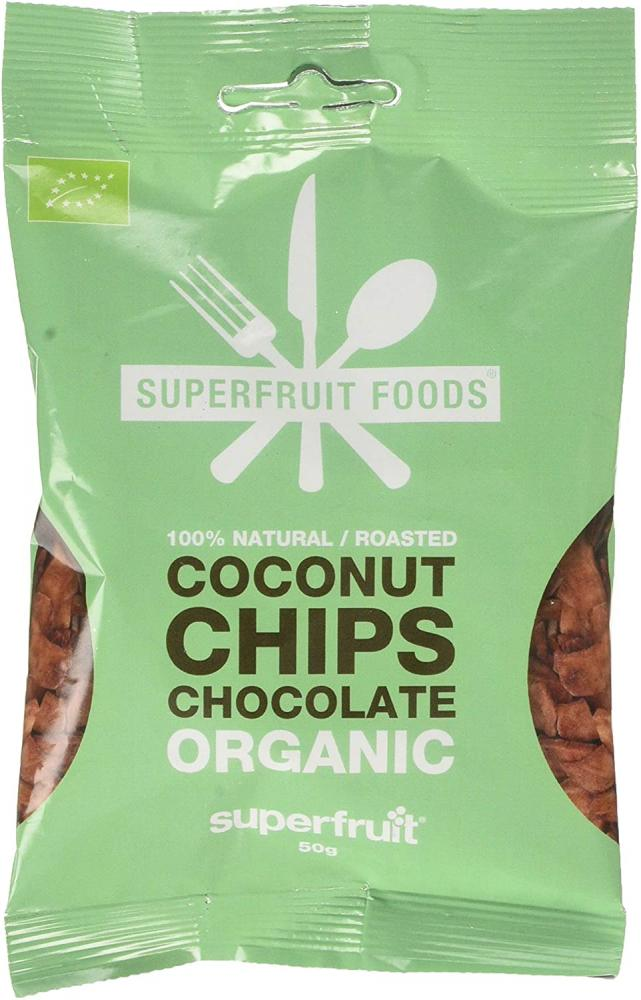 Superfruit Foods Coconut Chips Chocolate 50g