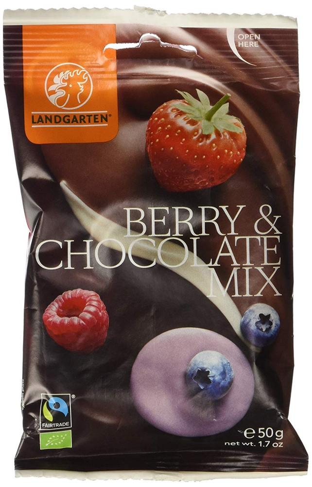 Landgarten Organic Berries in Mix of Chocolate 50g