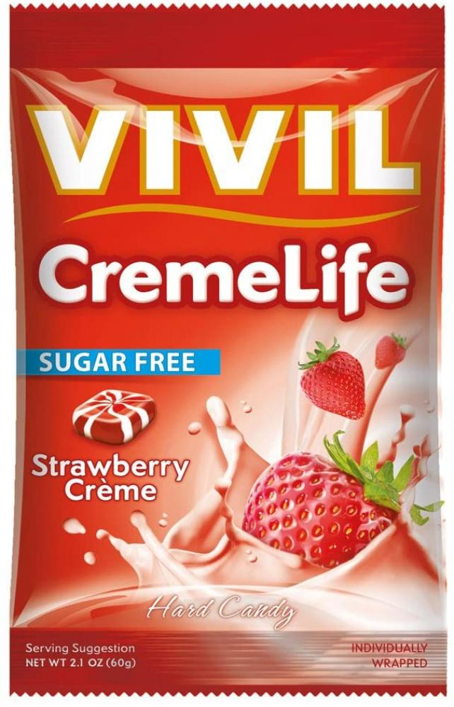 Vivil Creme Life Classic Sugar Free Strawberries and Creme 60 g