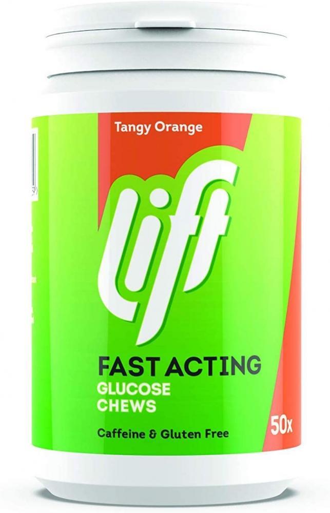 Gluco Lift Glucose Chewable Tablets ORANGE 50 Tablets