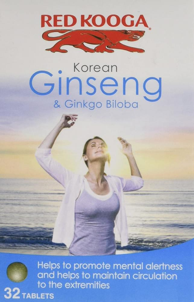Red Kooga Korean Ginseng and Ginkgo Biloba 32 Tablets