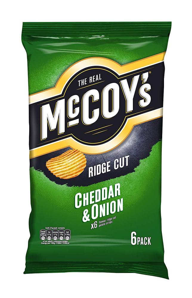 Mccoys Cheddar and Onion Potato Crisps 6x27g