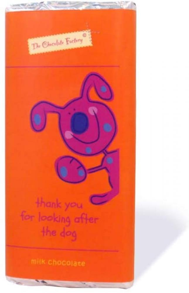 SALE  The Chocolate Factory Thank You for Looking After The Dog Belgian Milk Chocolate Bar 75 g