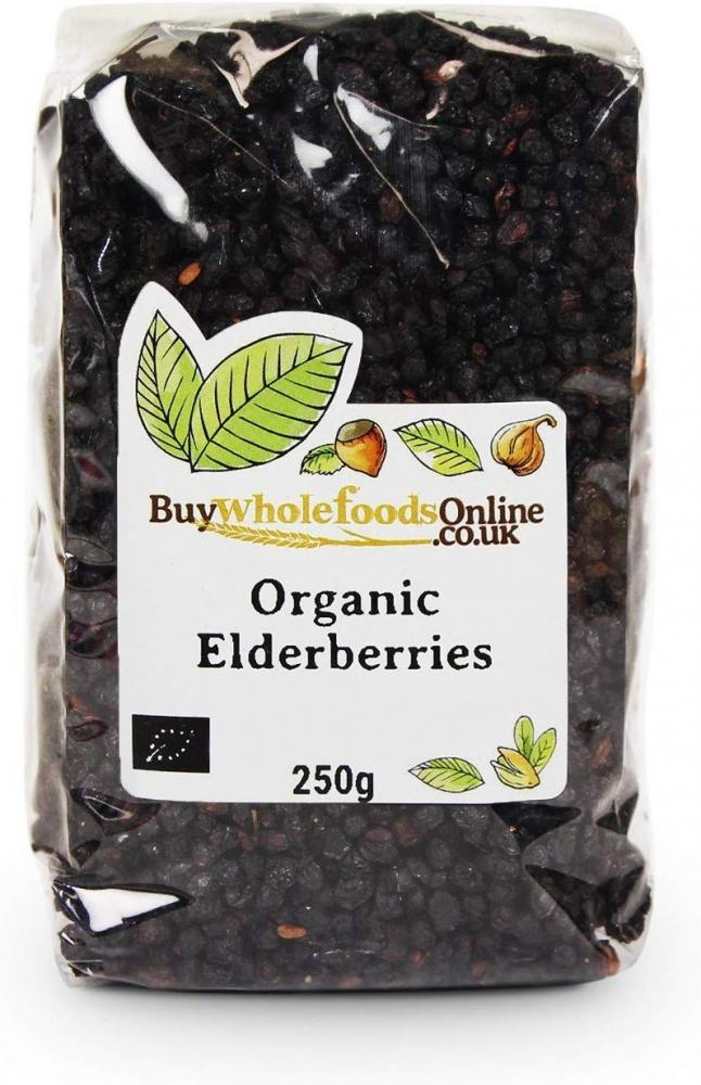 Buy Whole Foods Organic Dried Elderberries 250g
