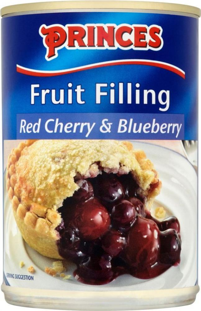 Princes Fruit Filling Red Cherry and Blueberry 410g